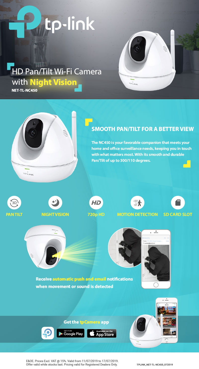 TP-Link - HD Pan/Tilt Wi-Fi Camera with Night Vision - Linkqage